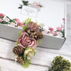 Other - Floral Acorn Infant Headband